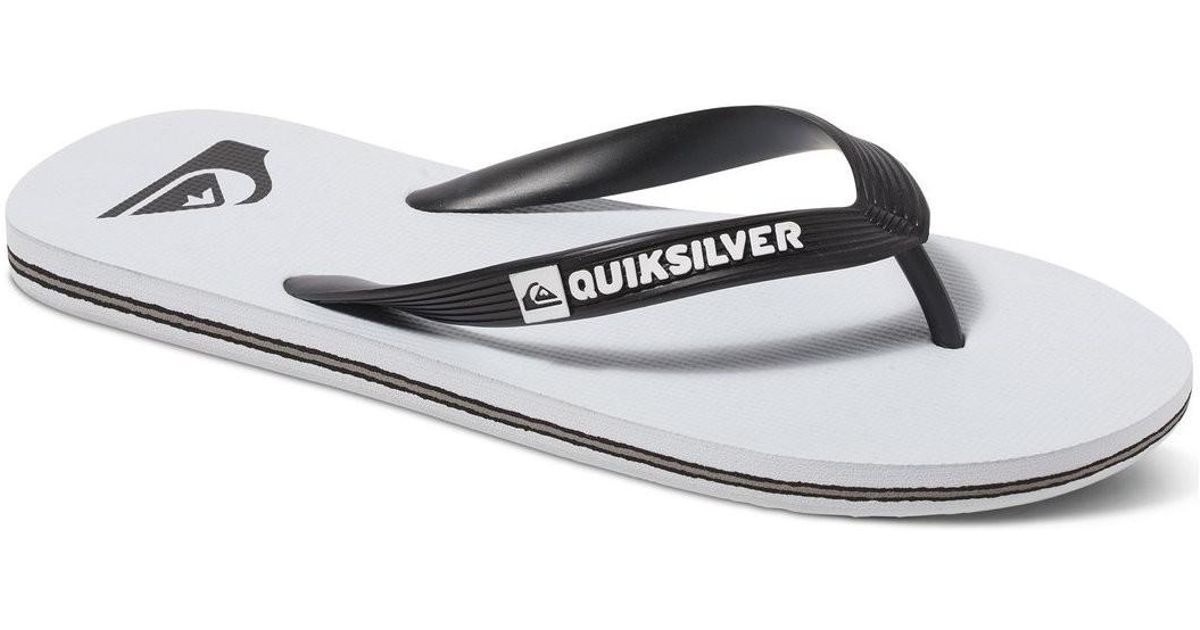 085ee14be4 Quiksilver Molokai - Chanclas Men's Flip Flops / Sandals (shoes) In White  in White for Men - Lyst