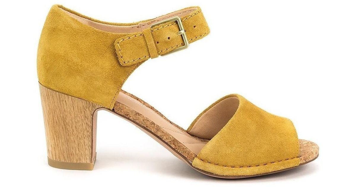 Clarks Spiced Olivia Women s Sandals In Yellow in Yellow - Lyst