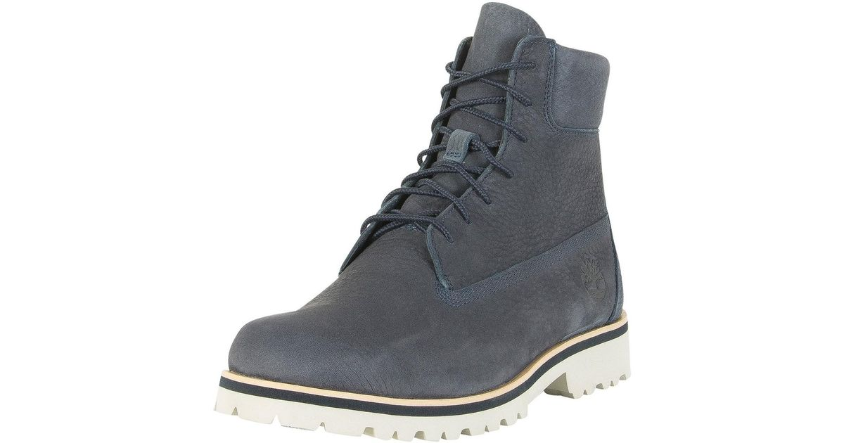 8b86de58 Timberland Men's Chilmark 6 Inch Leather Boots, Blue Men's Boots In Blue in  Blue for Men - Lyst