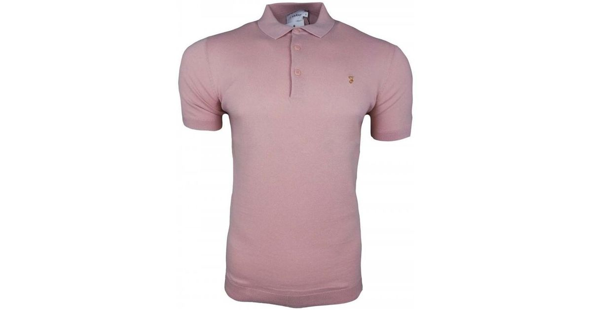 ce978d92 Farah Ben Knitted Polo Ss Men's Polo Shirt In Red in Red for Men - Lyst