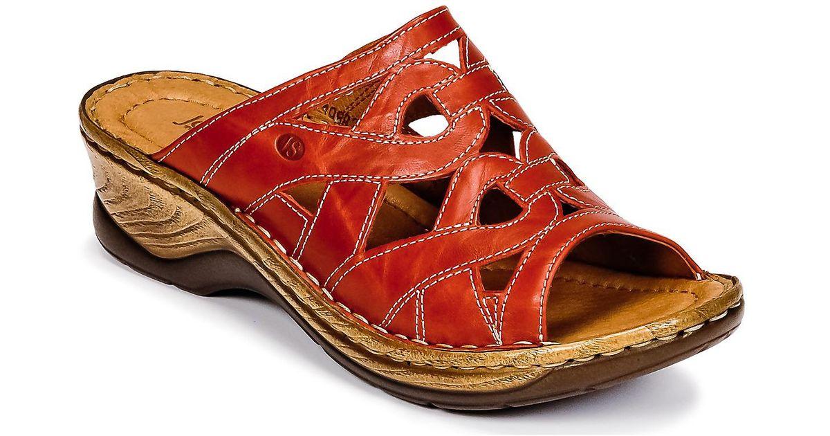 Leistungssportbekleidung auf großhandel Bestbewertet authentisch Josef Seibel - Catalonia 44 Women's Mules / Casual Shoes In Red - Lyst