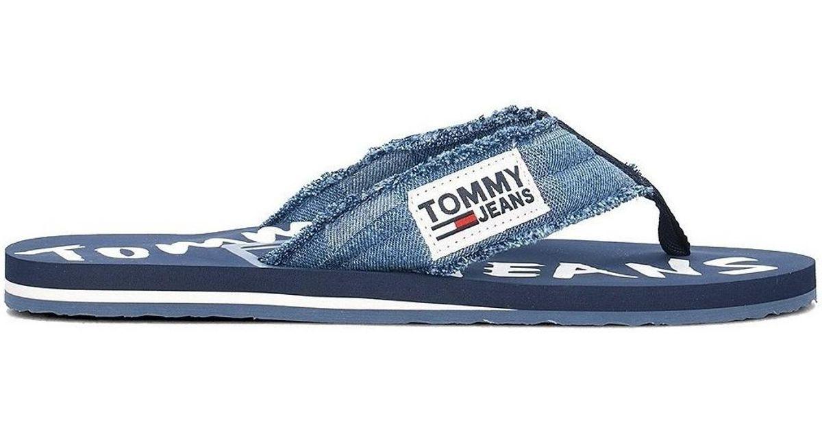 5ed8a6bbaab9b Tommy Hilfiger Em0em00064 Men s Flip Flops   Sandals (shoes) In Multicolour  in Blue for Men - Lyst