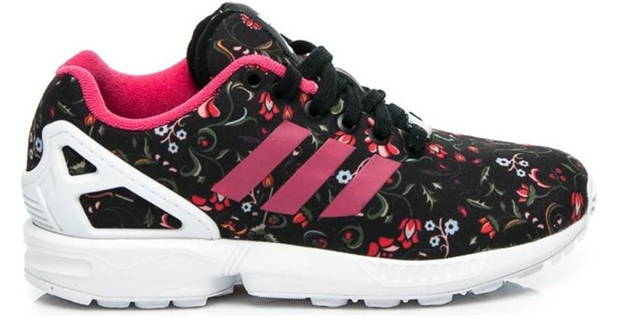 sports shoes c8301 5a9a4 ... greece adidas zx flux flower pack womens shoes trainers in black in  black lyst f451a c8ae3