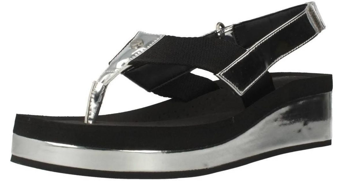 a6b01afe551c Calvin Klein Moselle Women s Sandals In Silver in Metallic - Lyst