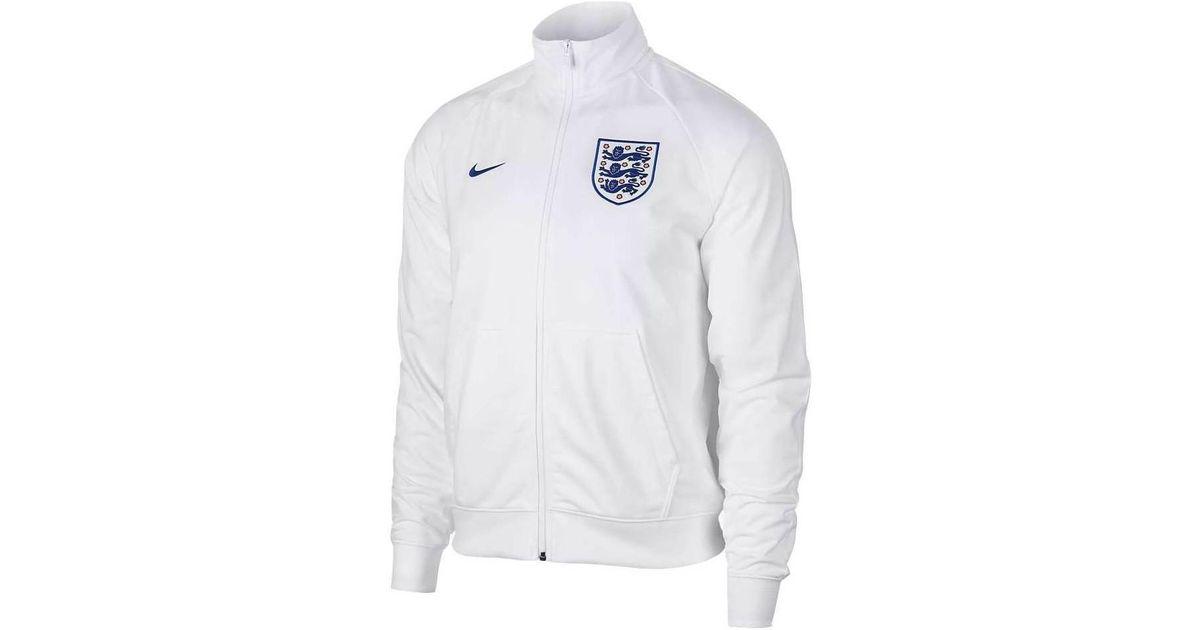 85e1876276 Nike 2018-2019 England Sportswear Mens Jacket Men s Tracksuit Jacket In  White in White for Men - Lyst