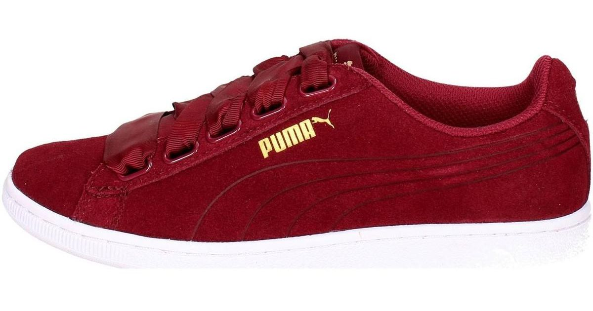PUMA 364262 03 Low Sneakers Women Burgundy Women s Shoes (trainers) In Red  in Red - Lyst 44fd0f941
