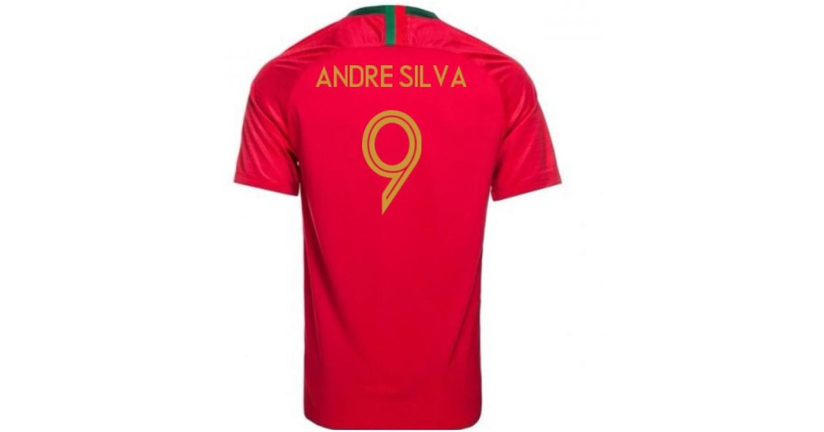 dc1754e92 Nike 2018-2019 Portugal Home Football Shirt (andre Silva 9) - Kids Men s T  Shirt In Red in Red for Men - Lyst