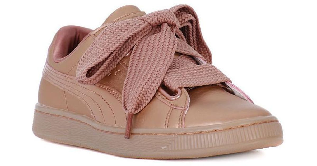 eb9e6ff8a43 PUMA Basket Heart Copper Women s Shoes (trainers) In Pink in Pink - Lyst
