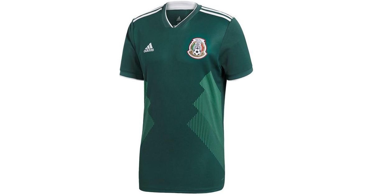 Adidas 2018-2019 Mexico Home Football Shirt (kids) Women s T Shirt In Green  in Green - Lyst 291574106