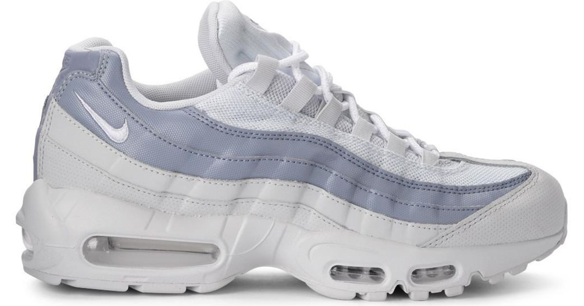 3c0d048955d3 Nike Air Max 95 White And Light-blue Leather Fabric Sneaker Men's Shoes  (trainers) In White in White - Lyst