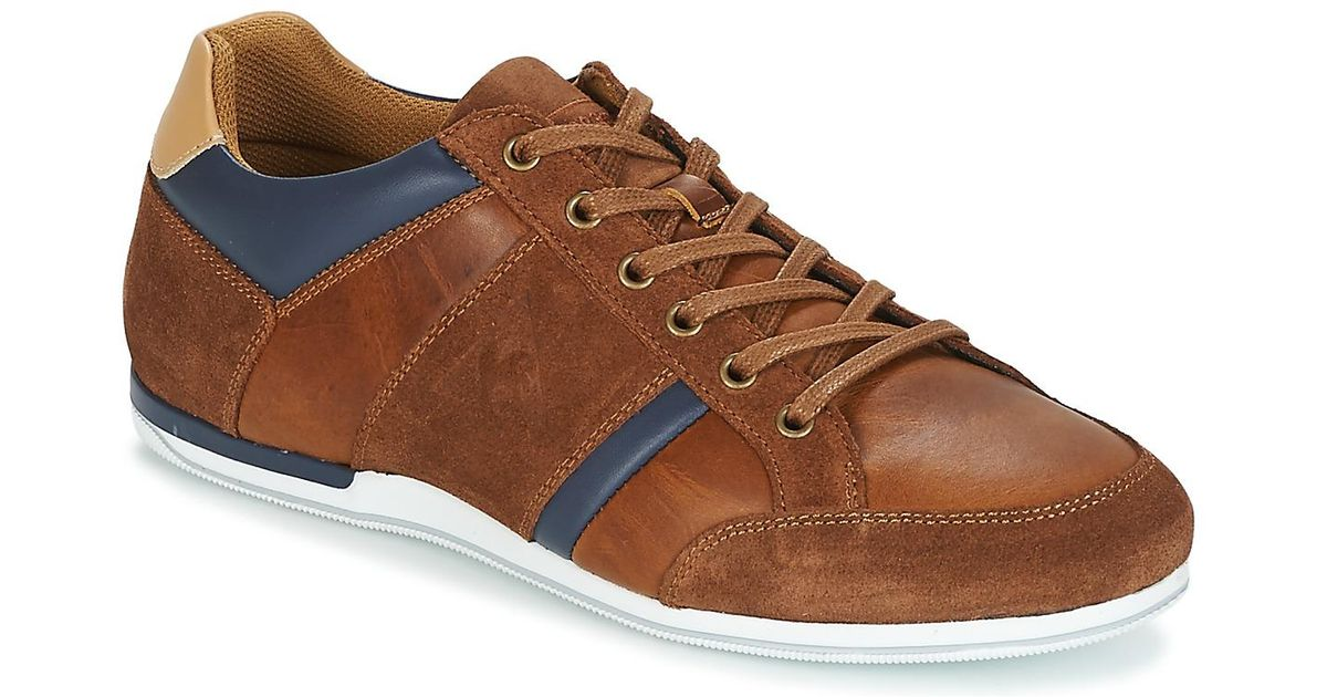 f36a98e7934d Le Coq Sportif Cernay Leather chambray Men s Shoes (trainers) In Brown in  Brown for Men - Lyst