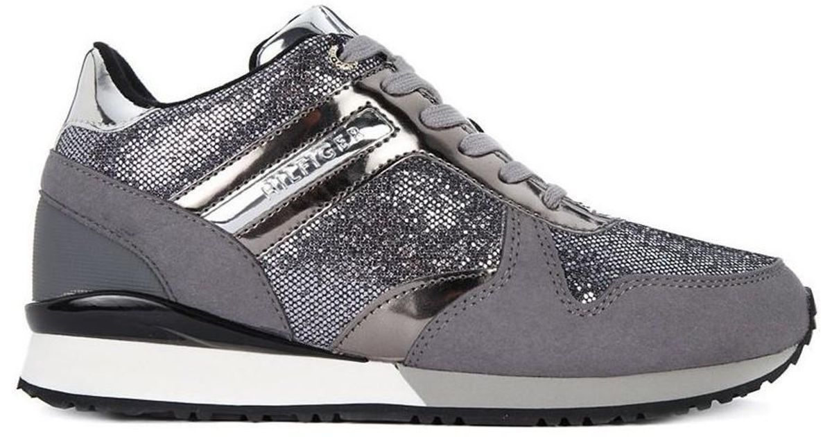 990425b13b0 Tommy Hilfiger Fw0fw02763 Women s Shoes (trainers) In Grey in Gray - Lyst