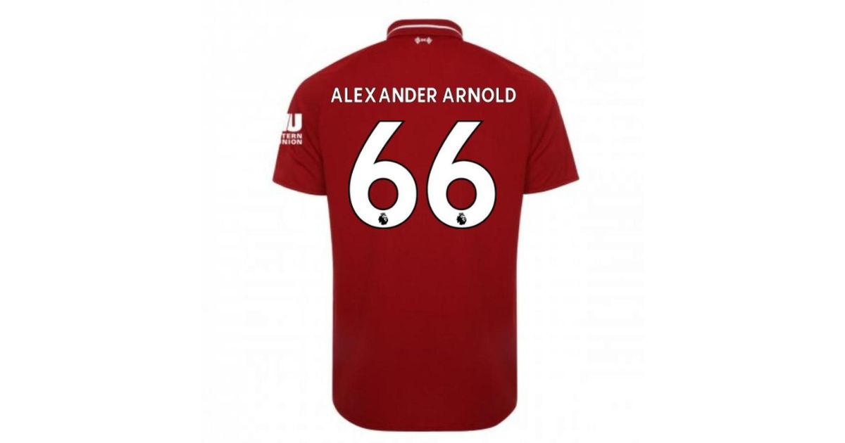 b64ba84fc New Balance 2018-2019 Liverpool Home Football Shirt (alexander Arnold 66) Women s  T Shirt In Red in Red - Lyst