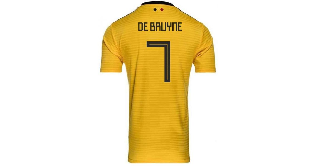 Adidas 2018-2019 Belgium Away Football Shirt (de Bruyne 7) - Kids Women s T  Shirt In Yellow in Yellow - Lyst 1320ffba0