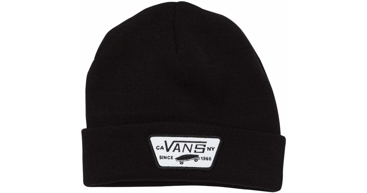 dd4e4ed8305 Vans Milford Beanie in Black for Men - Save 21.73913043478261% - Lyst