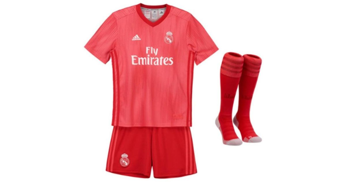 b4b91b62 adidas 2018-2019 Real Madrid Third Full Kit (kids) Men's In Red in Red for  Men - Lyst