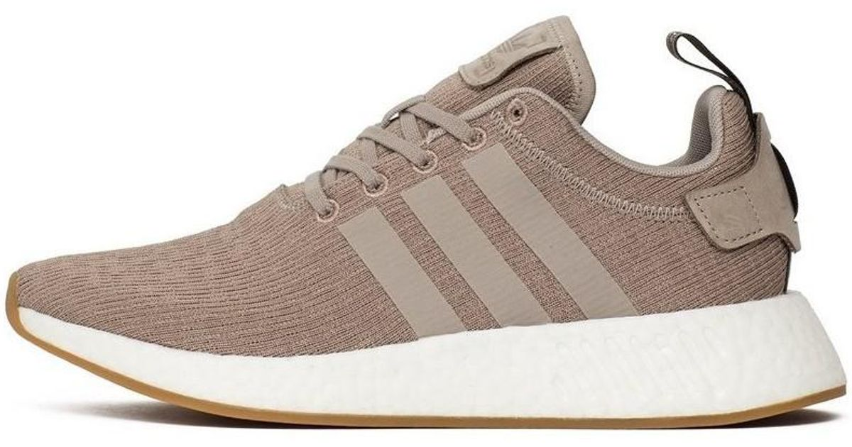 premium selection 5abe4 6f59e ... spain adidas nmdr2 pink mens shoes trainers in brown in brown for men  lyst 7f77b b57c1