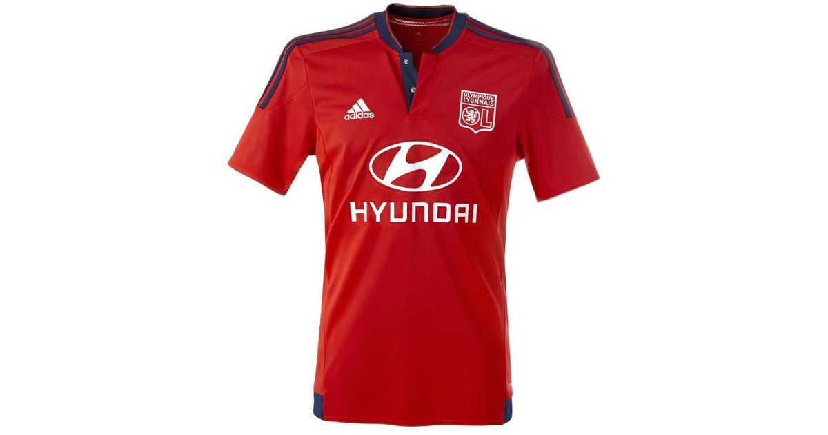 competitive price eb161 814f2 Adidas - 2015-2016 Olympique Lyon Away Football Shirt Women's T Shirt In  Red - Lyst