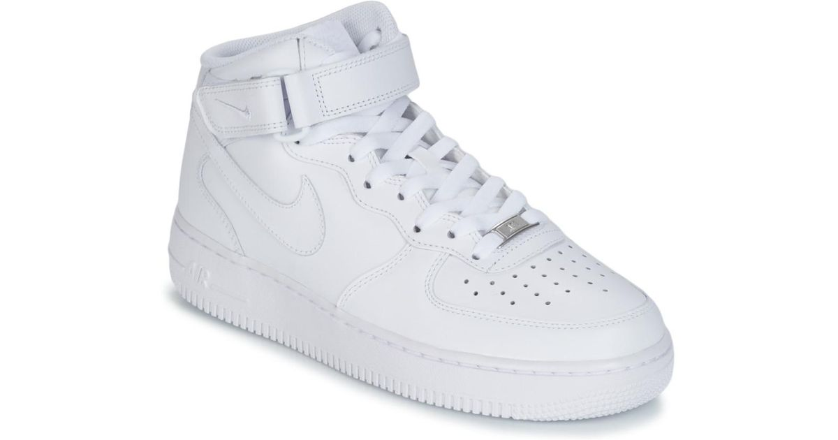 Nike Air Force 1 Mid 07 Leather Men s Shoes (high-top Trainers) In White in  White for Men - Save 17% - Lyst 765834112