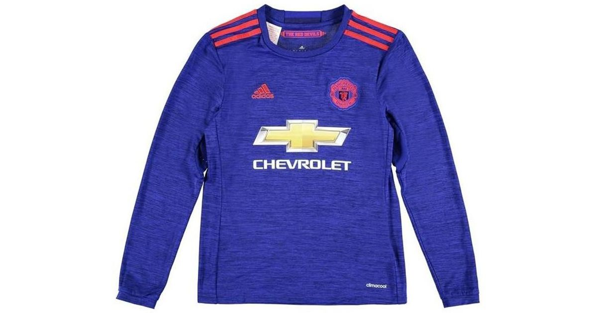 51cd3bd78 adidas 2016-17 Man United Away Long Sleeve Shirt (ibrahimovic 9) - Kids  Girls s In Blue in Blue - Lyst