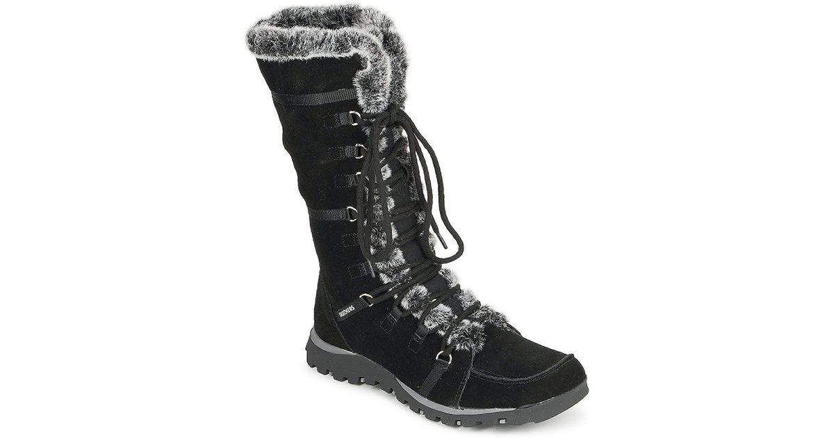 312c96ecb36d9 Skechers Grand Jams Unlimited Women's High Boots In Black in Black - Lyst