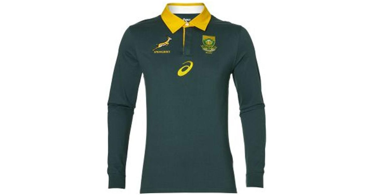 529bdd9d3 Asics 2017-2018 South Africa Springboks Ls Supporters Home Rugby Shirt  Men's Polo Shirt In Green in Green for Men - Lyst
