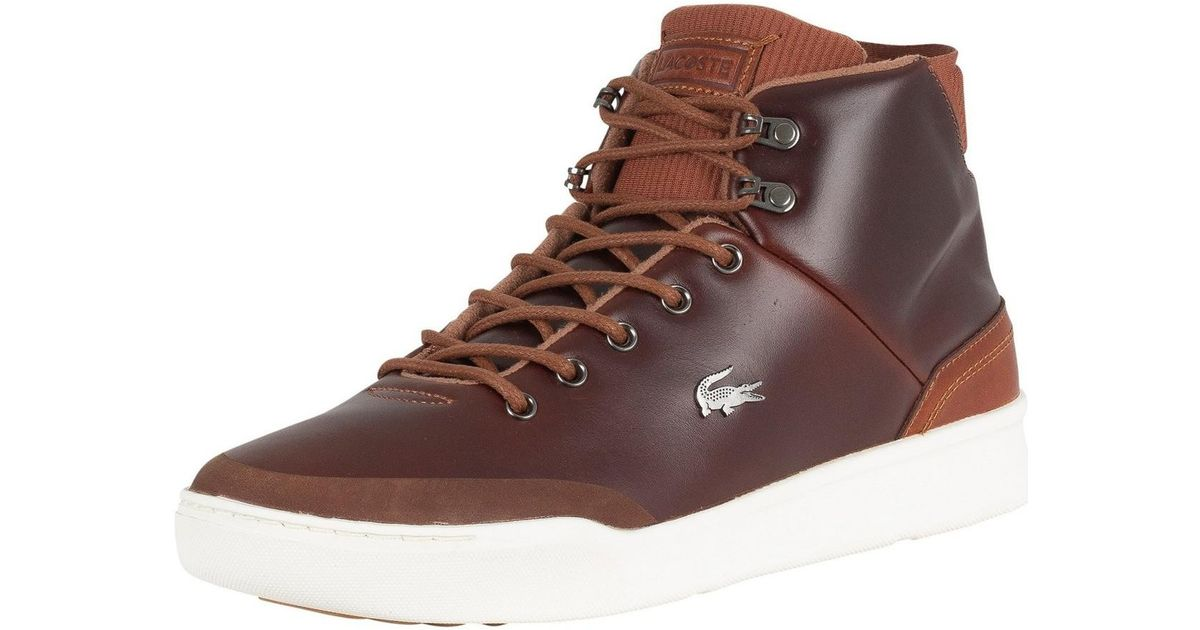 d8dc99220 Lacoste Tan brown Explorateur Classic 318 1 Cam Trainers in Brown for Men -  Lyst