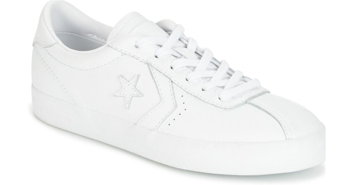 38d82fb1c9c Converse Breakpoint Foundational Leather Ox White white white Women s Shoes  (trainers) In White in White - Lyst