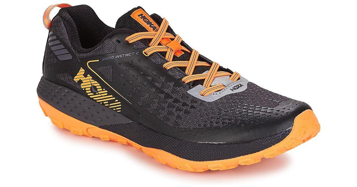 buy online ac0d1 dcba4 Hoka One One - M Speed Instinct 2 Men's Running Trainers In Black for Men -  Lyst