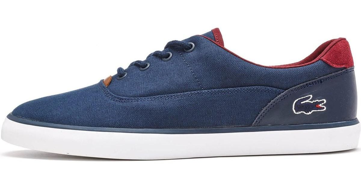 0050f9f22 Lacoste Jouer 317 1 Cam Trainers In Navy Blue 734cam0027 003 Men s Shoes  (trainers) In Blue in Blue for Men - Lyst