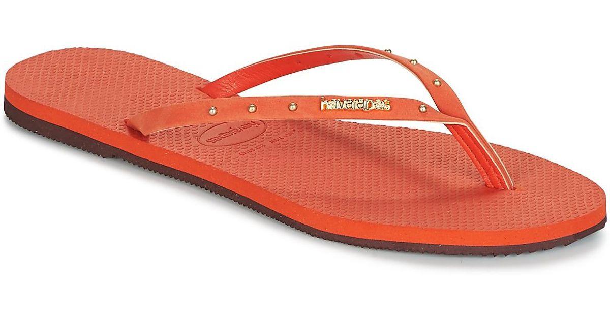 47abf4003ae4 Havaianas You Maxi Women s Flip Flops   Sandals (shoes) In Orange in Orange  - Lyst