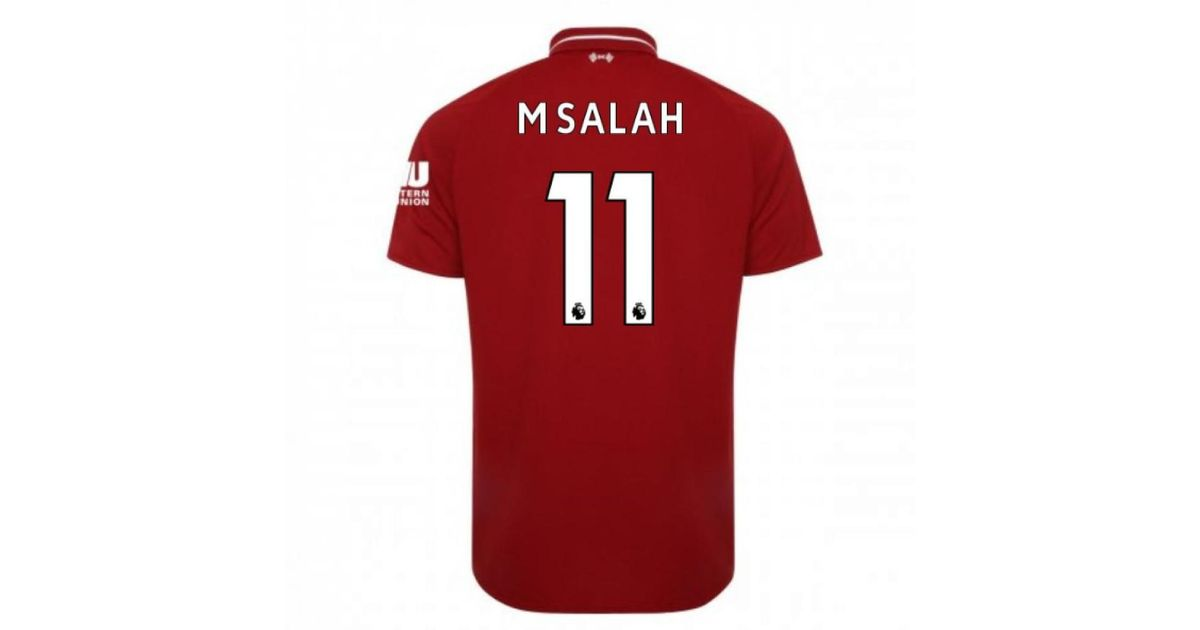 4cf22e185 New Balance 2018-2019 Liverpool Home Football Shirt (m Salah 11) - Kids  Men's T Shirt In Red in Red for Men - Lyst