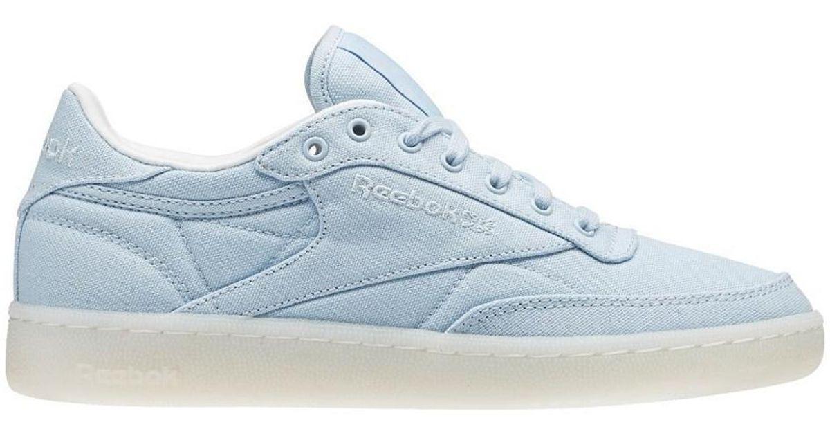 04c24c25277fd Reebok Club C 85 Canvas Zee Blue Women s Shoes (trainers) In White in White  - Lyst