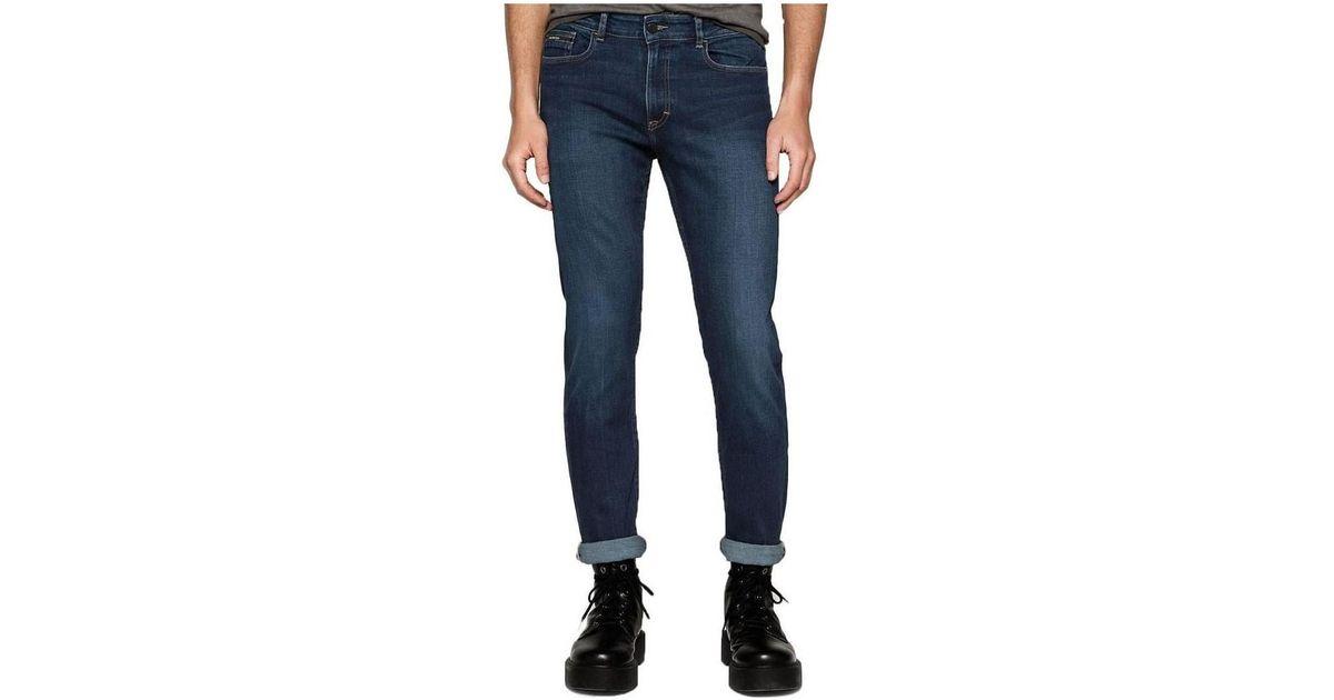 1e6eaa9290 Calvin Klein Mens Slim Straight Jeans Women s Skinny Jeans In Pink in Pink  - Lyst