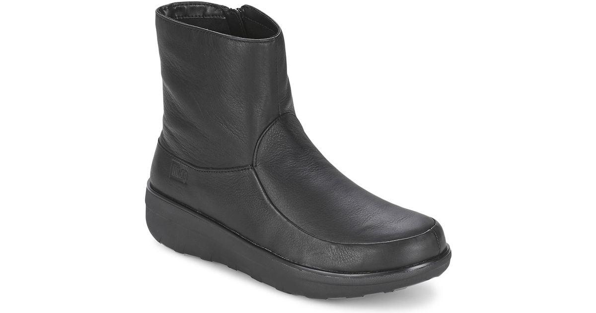 262d2f28b1 Fitflop Loaff Shorty Zip Boot Women s Boots In Black in Black - Lyst