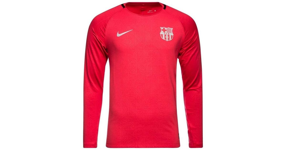 5b6722732 Nike 2018-2019 Barcelona Long Sleeve Training Shirt (tropical) Women s In  Pink in Pink for Men - Lyst