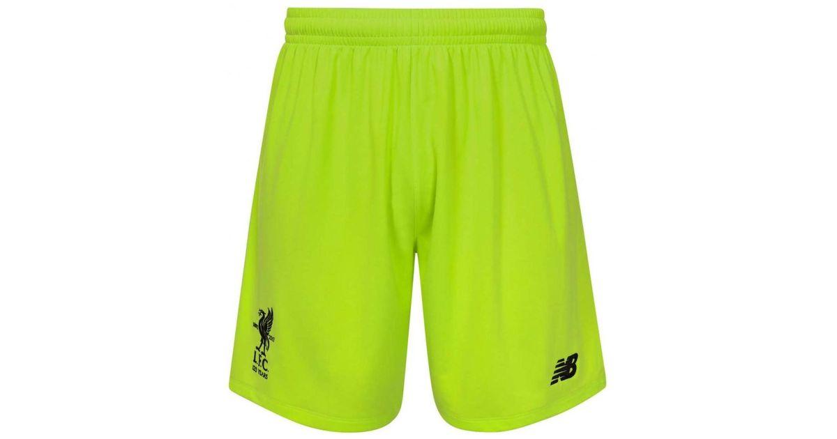 New Balance 2017 2018 Liverpool Third Goalkeeper Shorts Men's Shorts In Green for Men Lyst
