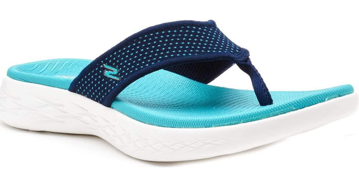 3f800ab5b7 Skechers On The Go 600 Women Flip Flop Sandals In Navy Blue Turquoise  Women s Flip Flops   Sandals (shoes) In Blue in Blue - Lyst