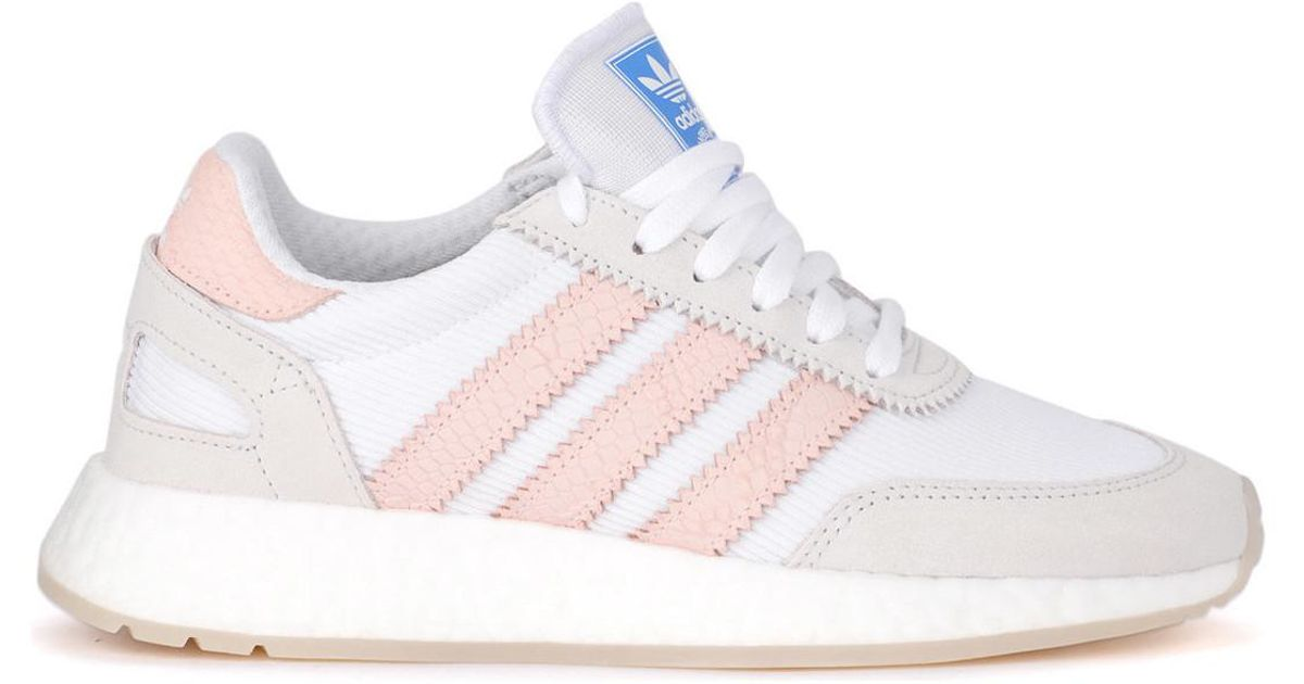 meet dd46f 1d86e adidas Sneaker I-5923 In Mesh Bianco E Pelle Rosa Women s Shoes (trainers)  In White in White - Lyst