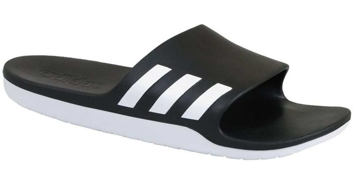 f38f47a9e adidas Aqualette Cloudfoam Slides in Black for Men - Lyst