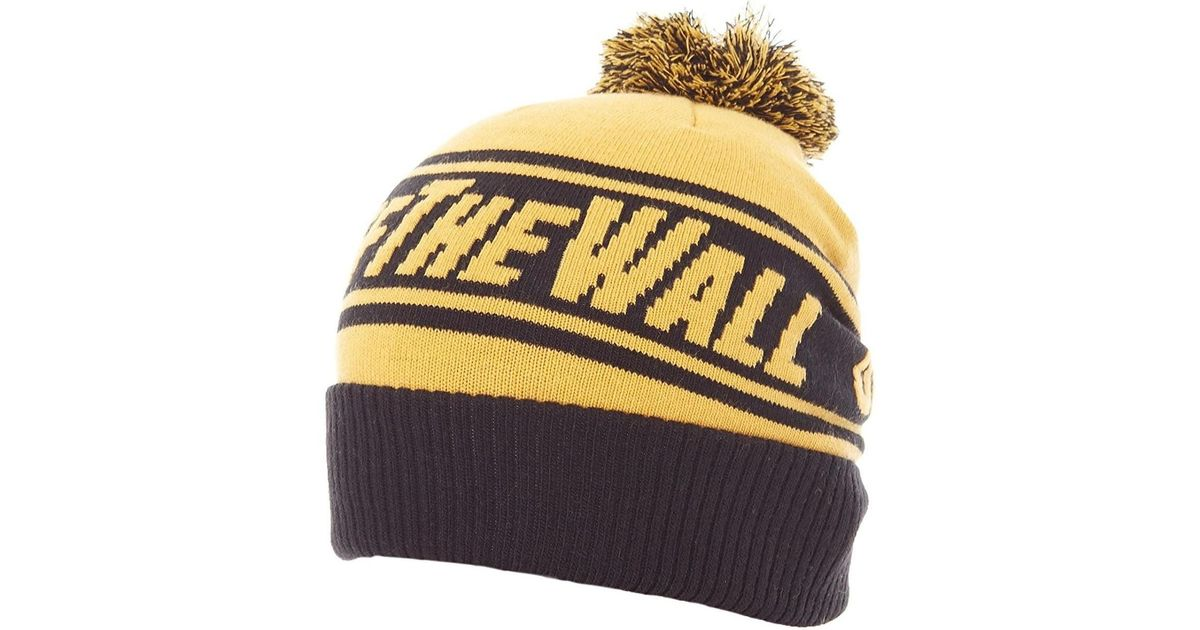 Vans Gorro Off The Wall Pom Pom Beanie Amarillo Y Negro Men s Beanie In  Yellow in Yellow for Men - Lyst 6d7bb3b0b16