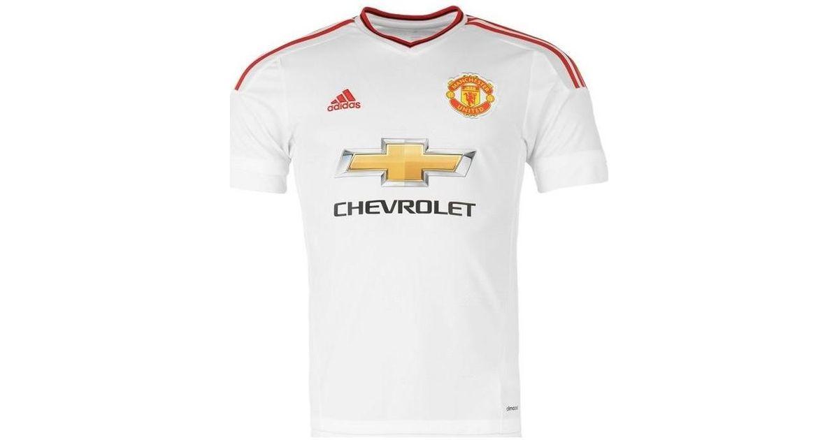 2ad6f2799 Adidas 2015-2016 Man Utd Away Shirt (schneiderlin 28) - Kids Men s T Shirt  In White in White for Men - Lyst