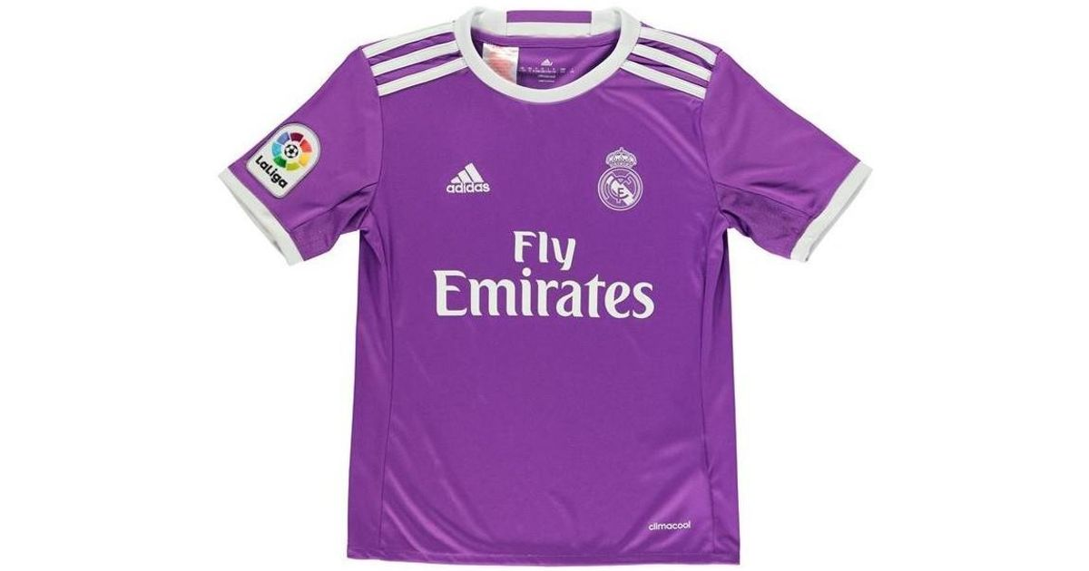 f54151599bf adidas 2016-17 Real Madrid Away Shirt (pepe 3) - Kids Men s T Shirt In  Purple in Purple for Men - Lyst