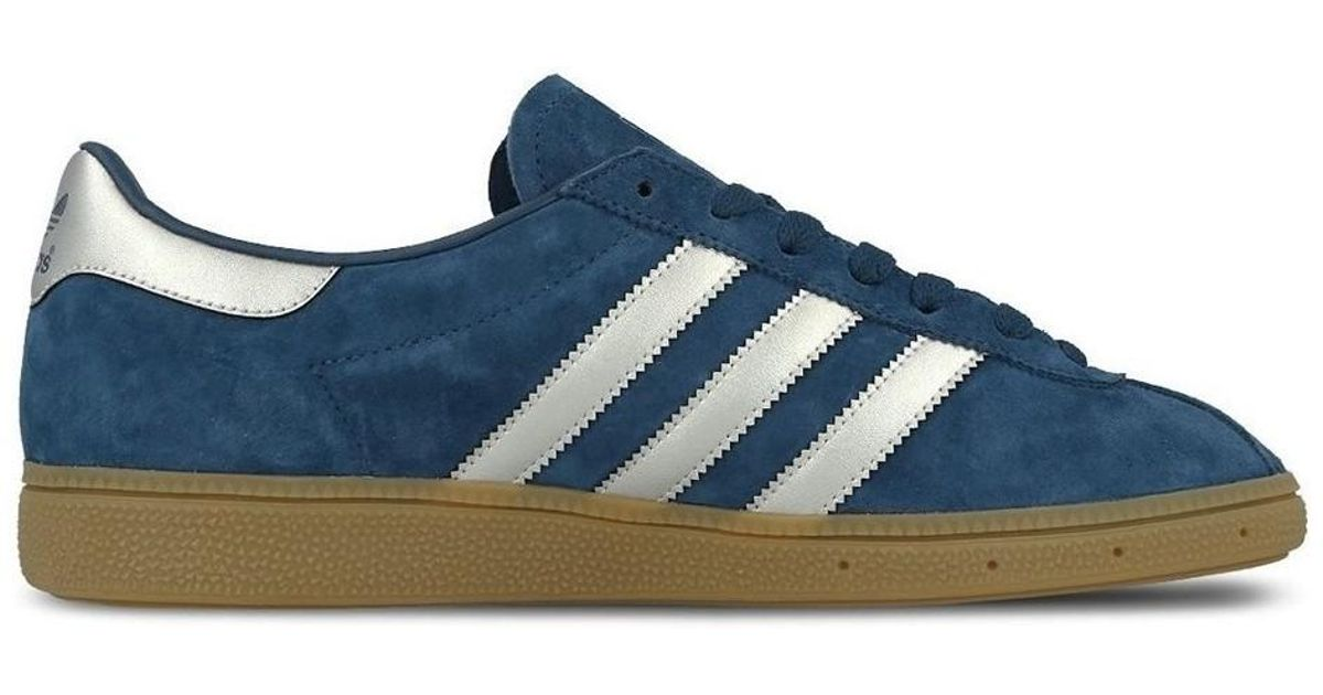 b88cbeb3b10a10 Adidas Munchen Mystery Blue Men s Shoes (trainers) In White in White for  Men - Lyst