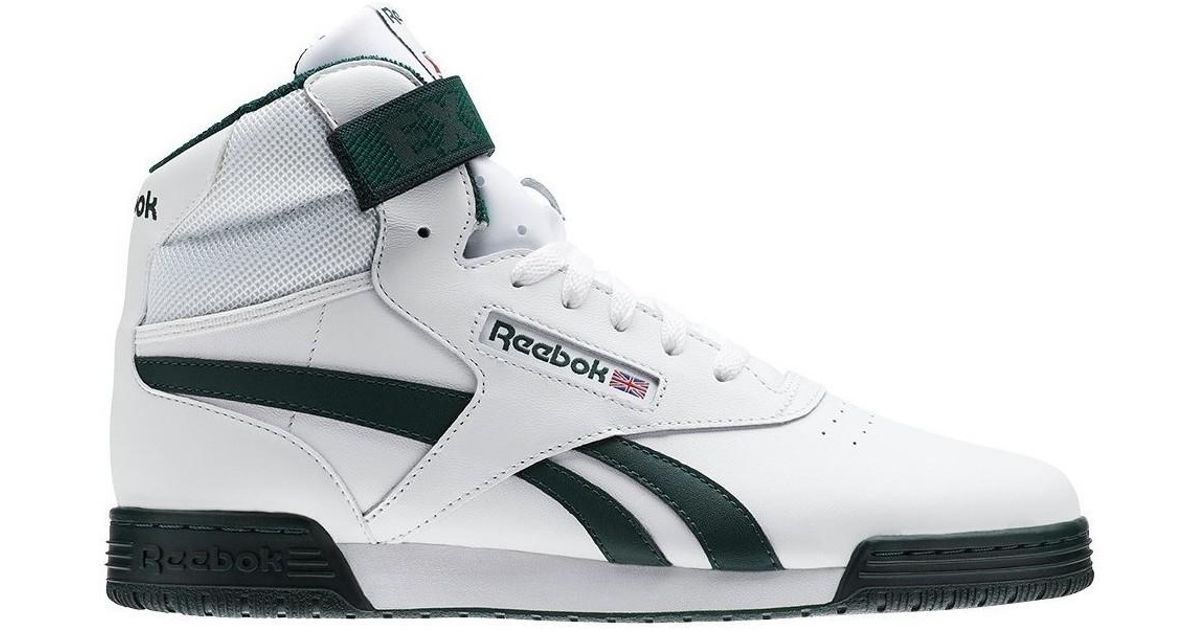 3bbdba368e71 Reebok Exofit Clean Hi S Whitedark Forest Men s Shoes (high-top Trainers)  In White in White for Men - Lyst