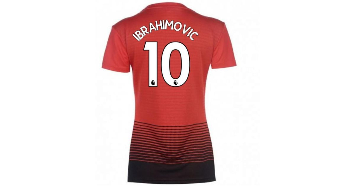 buy popular 03a6a 7898e Adidas - 2018-2019 Man Utd Womens Home Shirt (ibrahimovic 10) Women's T  Shirt In Red - Lyst