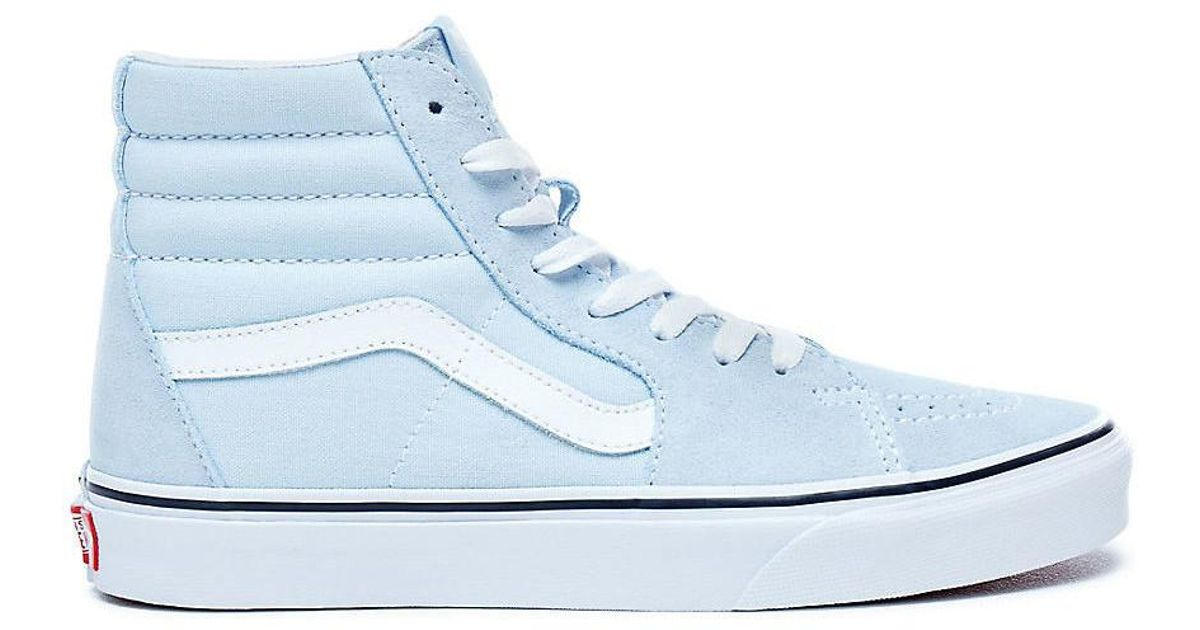 Vans Sk8-hi Baby Blue Women s Shoes (high-top Trainers) In Blue in Blue -  Lyst c8bab52b9309