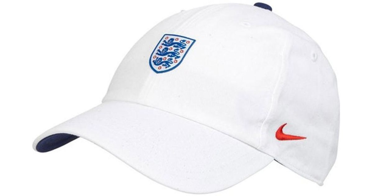 aba1bc305d491 Nike 2018-2019 England H86 Core Cap Women's Cap In White in White for Men -  Lyst