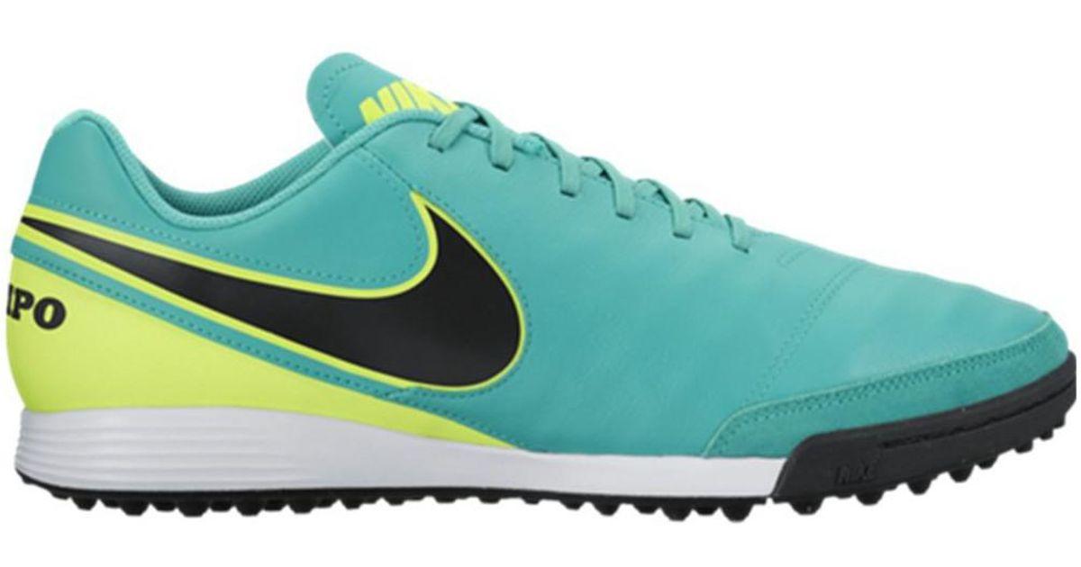 d2b72fc5fa50 Nike Tiempox Genio Ii Leather Tf Men s Football Boots In Multicolour for  Men - Lyst