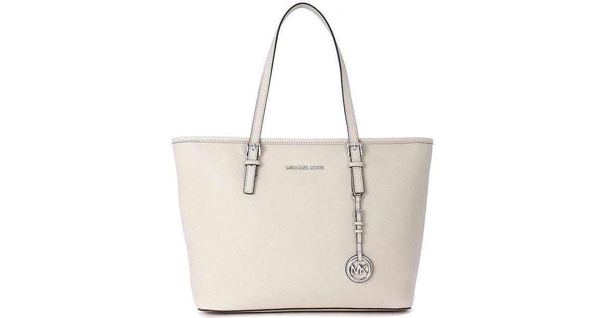 837b20402140 MICHAEL Michael Kors Michael Kors Jet Set Travel Tz Concrete Color Tote Bag  Women's Shoulder Bag In Grey in Gray - Lyst